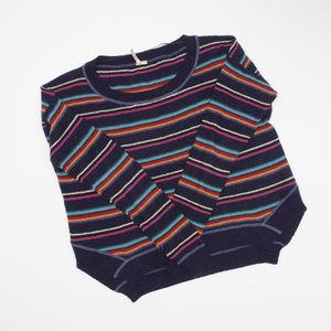 Free People Knit Multicolor Stripe Boxy Sweater